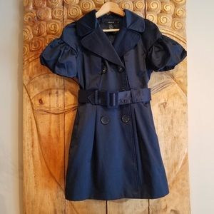 Arden B Jackets & Coats - ARDEN B SHORT SLEEVE NAVY BELTED TRENCH COAT, S